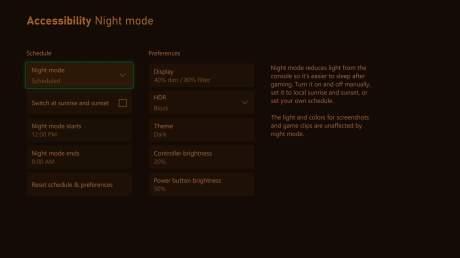 Le mode nuit arrive sur les consoles Xbox // Source : Xbox