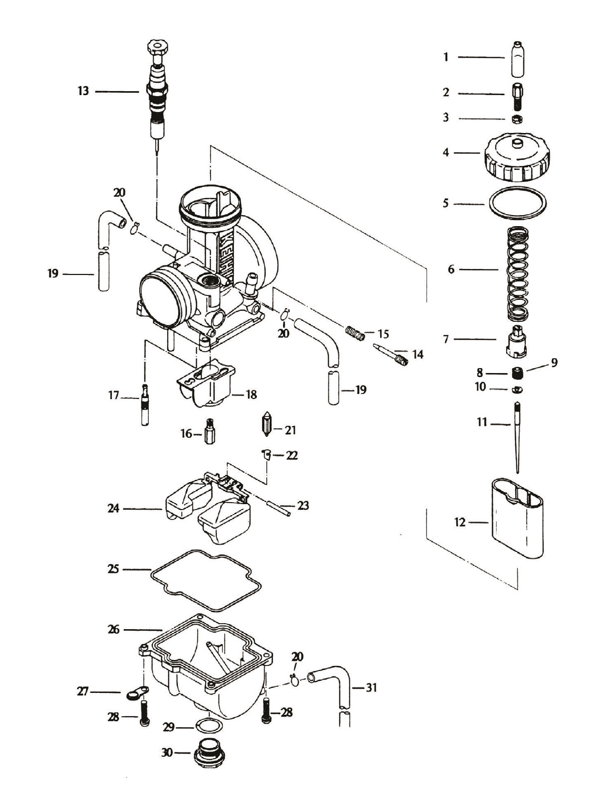 Exploded View Parts Diagram Keihin Pj Carburetor