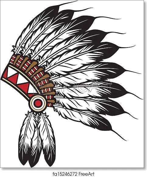 Free Art Print Of Native American Indian Chief Native American Indian Chief Headdress Indian Chief Mascot Indian Tribal Headdress Indian Headdress Freeart Fa15246272