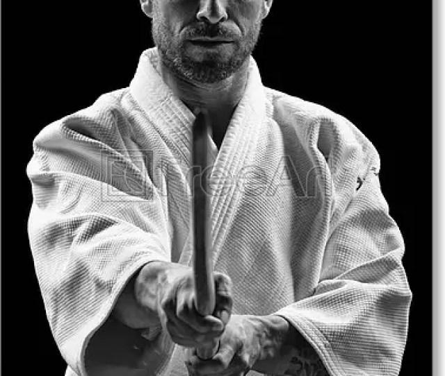 Free Art Print Of Low Key Portrait Of Aikido Master