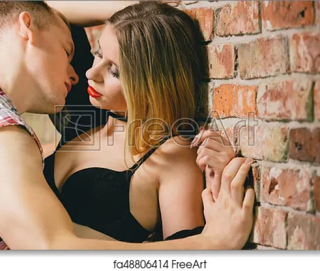 Free Art Print Of Foreplay On A Brick Wall