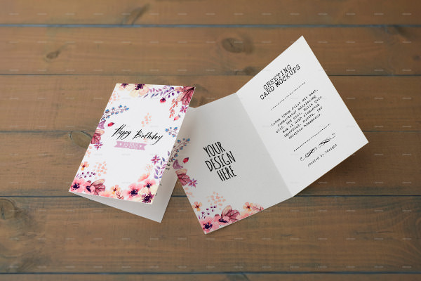 free 12 psd greeting card mockups in