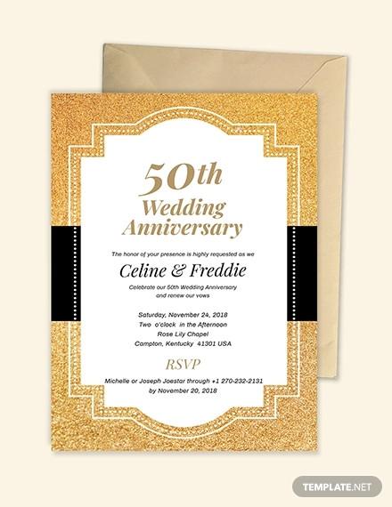 beautiful anniversary invitation card