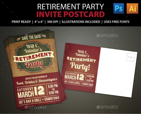 22 Retirement Invitation Designs PSD Vector EPS JPG Download FreeCreatives