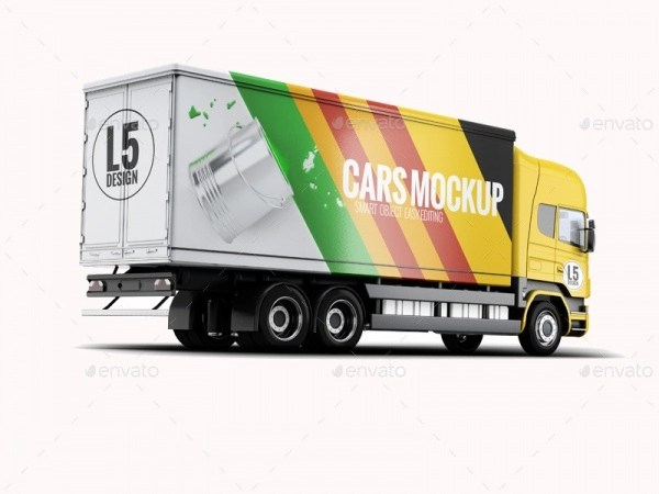 Download FREE 21+ Truck Advertising Mockups in PSD | InDesign | AI ...