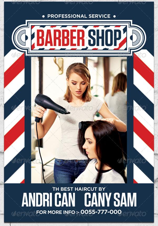 28 Creative Barbershop Flyer Designs Word PSD AI EPS