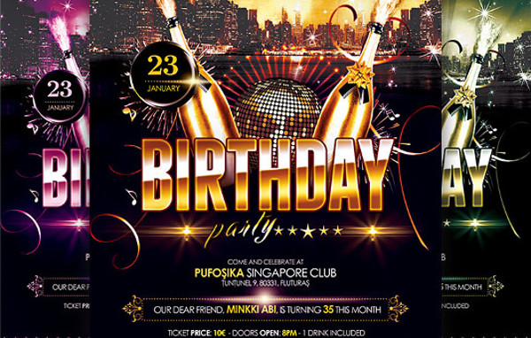 Free 27 Birthday Flyer Templates In Ms Word Psd Ai Indesign Pages Publisher