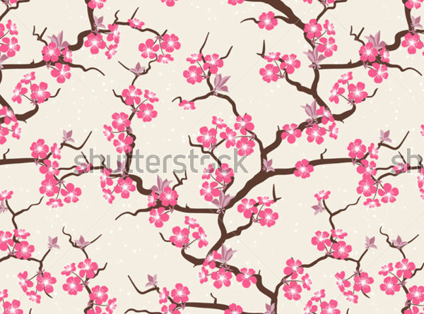 21 Cherry Blossom Patterns PSD Vector EPS JPG