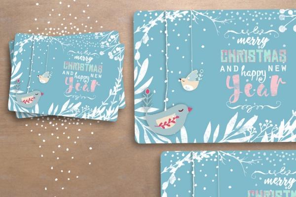 19 Christmas Greeting Cards JPG PSD AI Illustrator