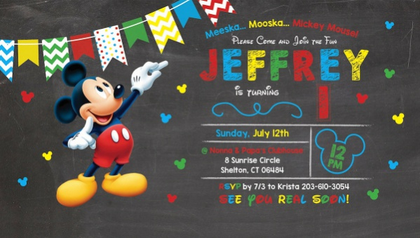 Free 6 Mickey Mouse Invitation Designs In Psd Vector Eps Ai