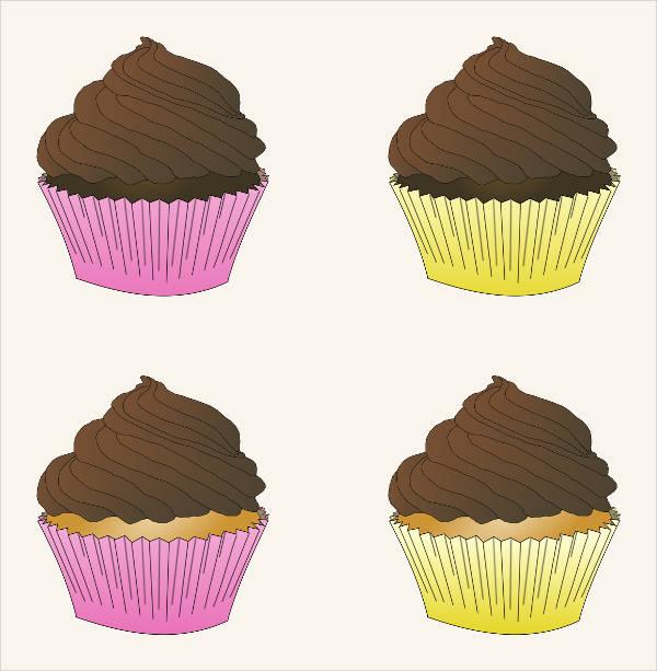 21 Cupcake Cliparts Vector Eps Jpg Ai Illustrator