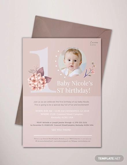 first birthday invitation designs