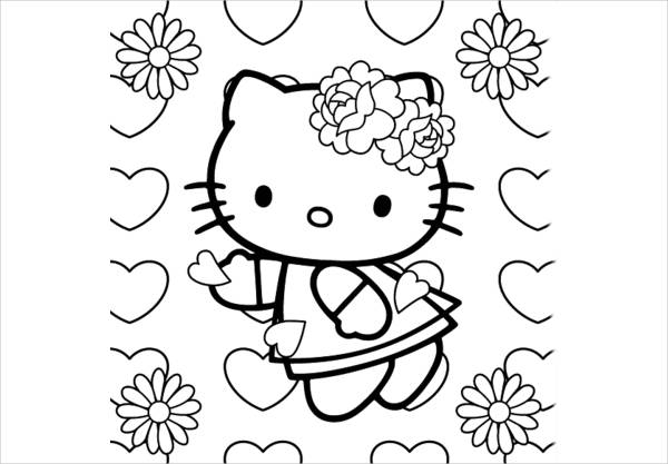 10 Spring Coloring Pages JPG Download