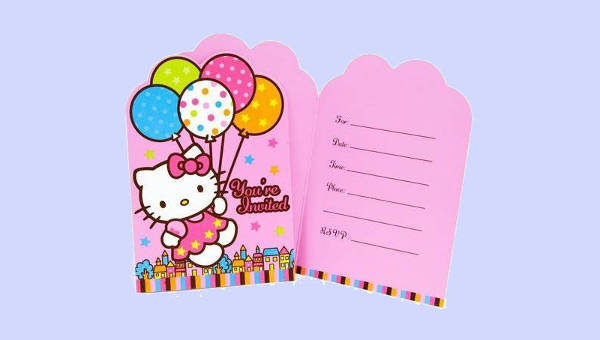 free 11 hello kitty invitation designs