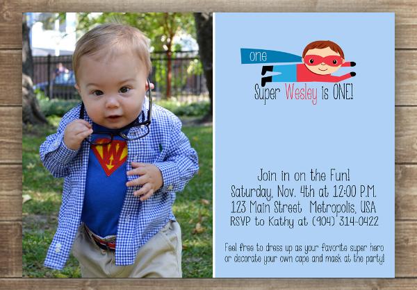 superhero birthday invitation designs