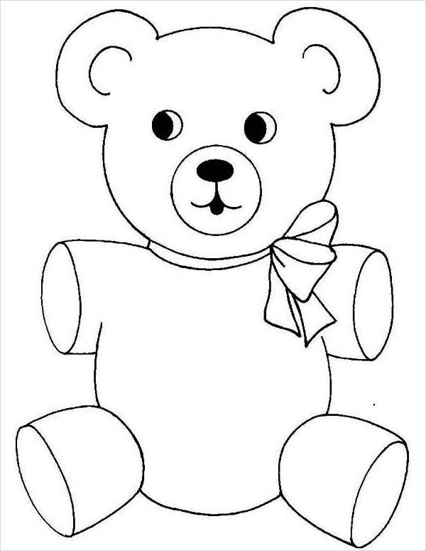 Baby Bear Cute Teddy Bear Coloring Pages Novocom Top