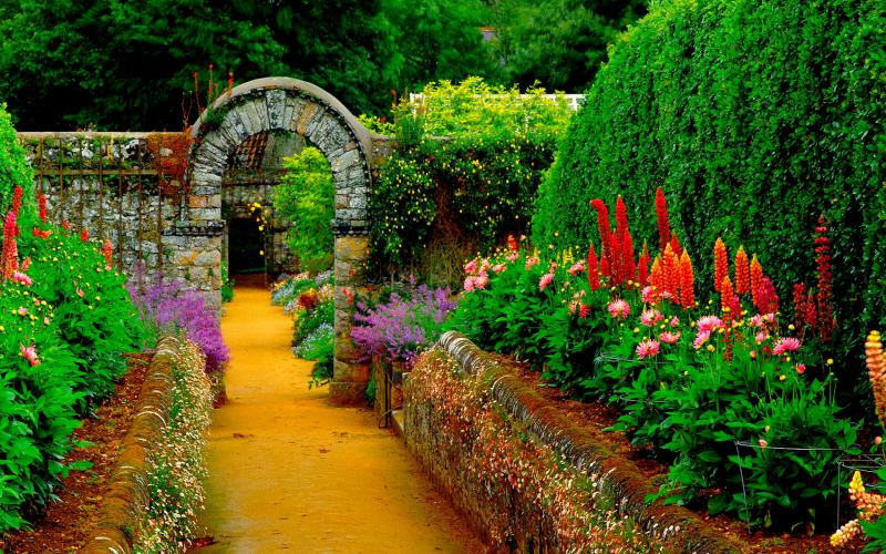 HD Country Garden Path Wallpaper Download Free 51569