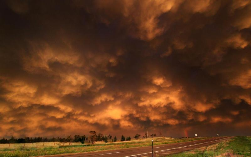 HD Rust Colored Storm Clouds Hdr Wallpaper Download Free