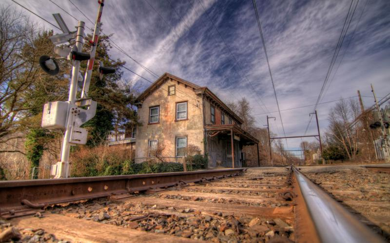 HD Lovely Old Train Stop Hdr Wallpaper Download Free 72891