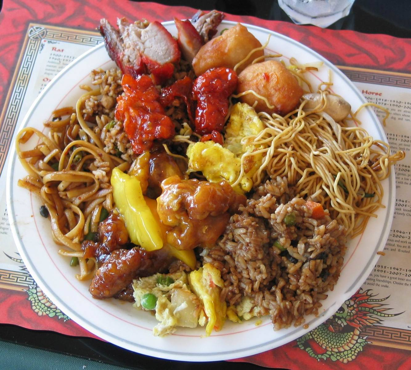 Free Plate With Chinese Food Stock Photo