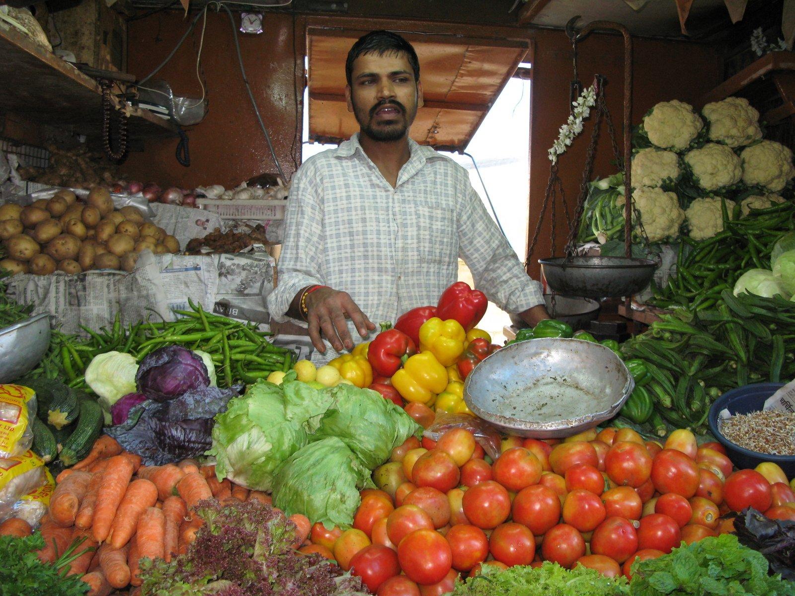 Vegetable Vendor Clipart