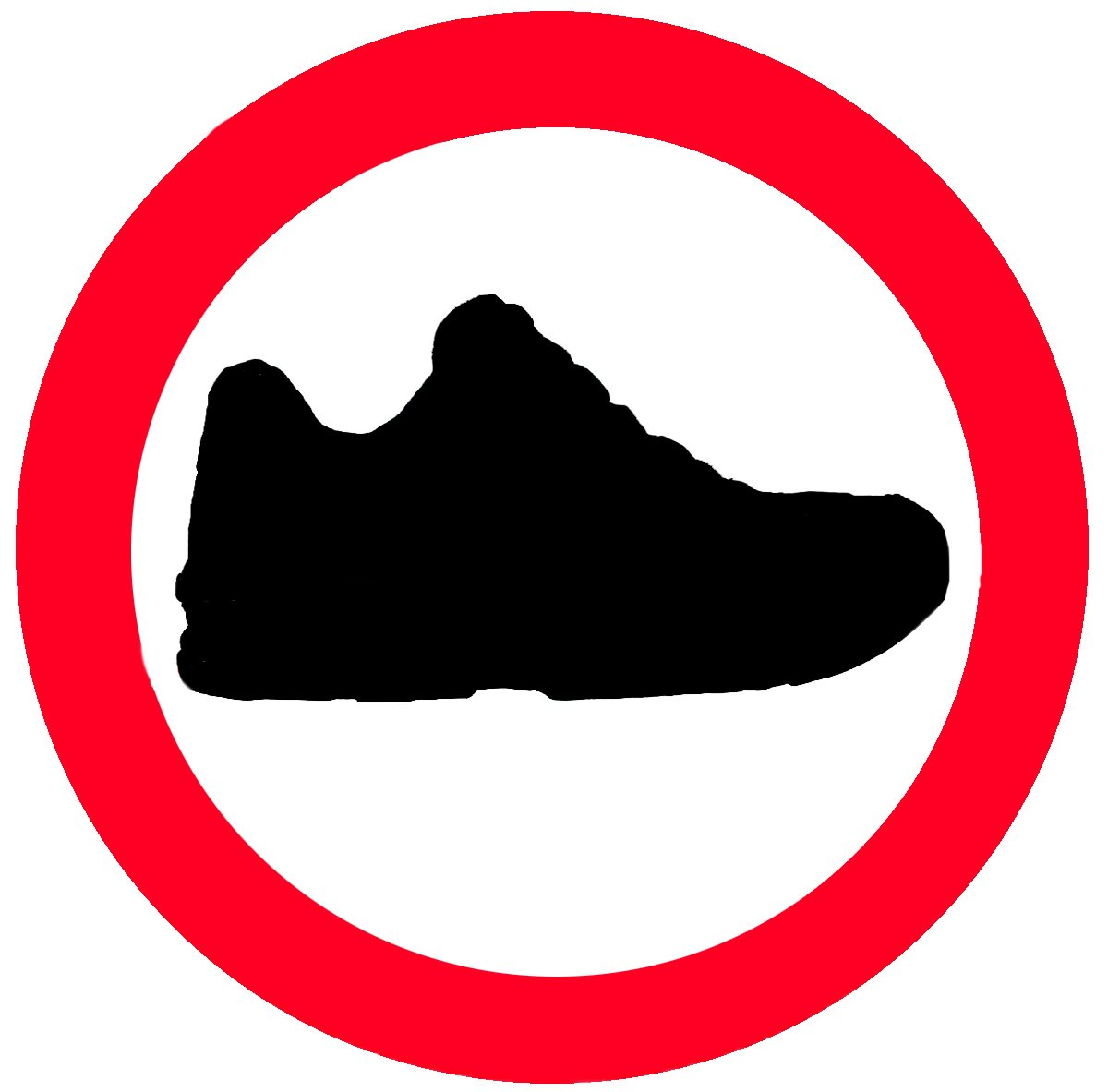 Free No Shoes Sign Stock Photo