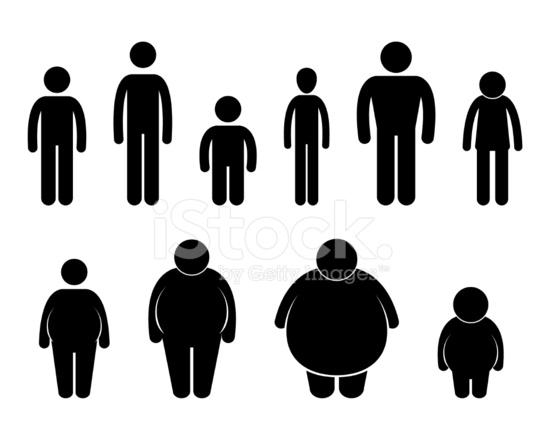 Mann Körper Abbildung Größe Piktogramm Stock Vector