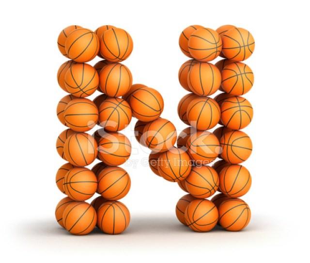Letter N Basketball