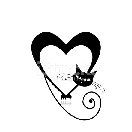 Download Love Cat Silhouette for Your Design Stock Vector ...