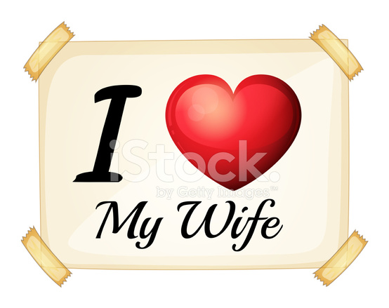 Download I Love MY Wife Stock Vector - FreeImages.com