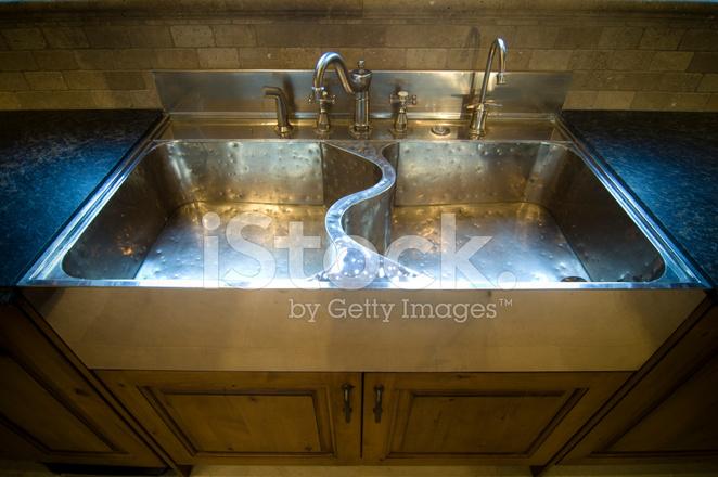 sterling silver kitchen sink stock