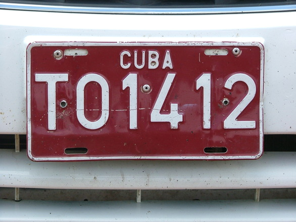 numberplate in cuba