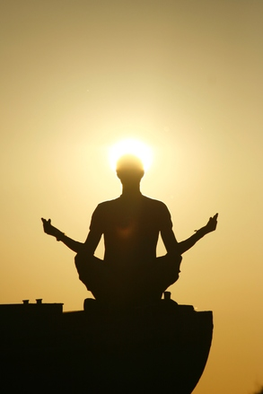 meditating returns us to equilibrium