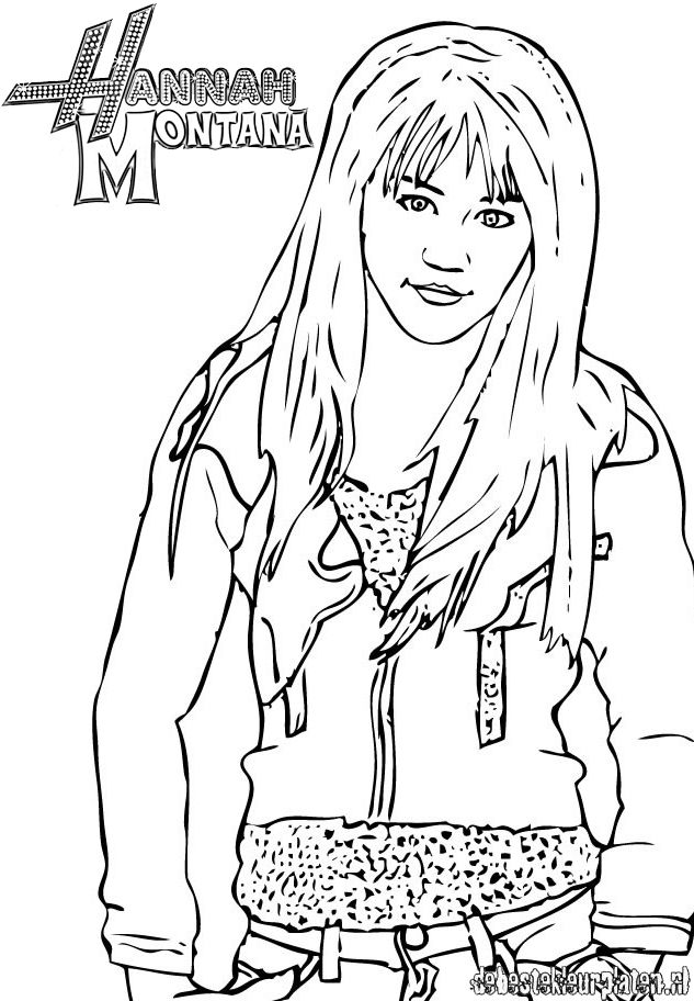 Hannah Montana8 Printable Coloring Pages