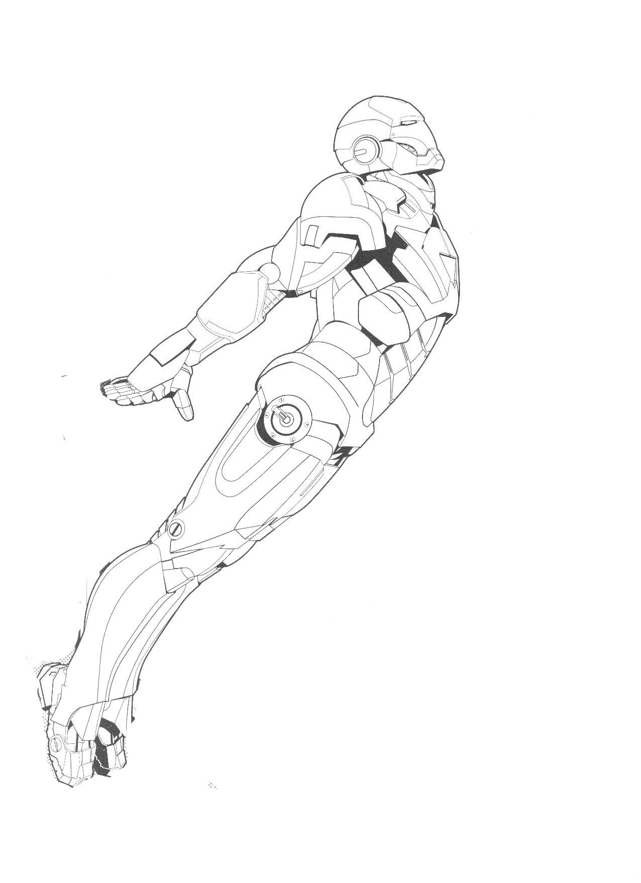 New Iron Man Coloring Page