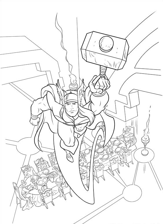 the almighty thor coloring pages printable coloring pages