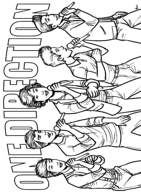 One Direction 6 Printable Coloring Pages