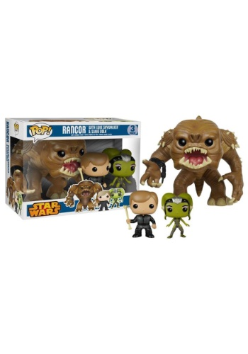 Funko POP Star Wars Rancor w/ Luke & Slave Oola Bobblehead 3pack