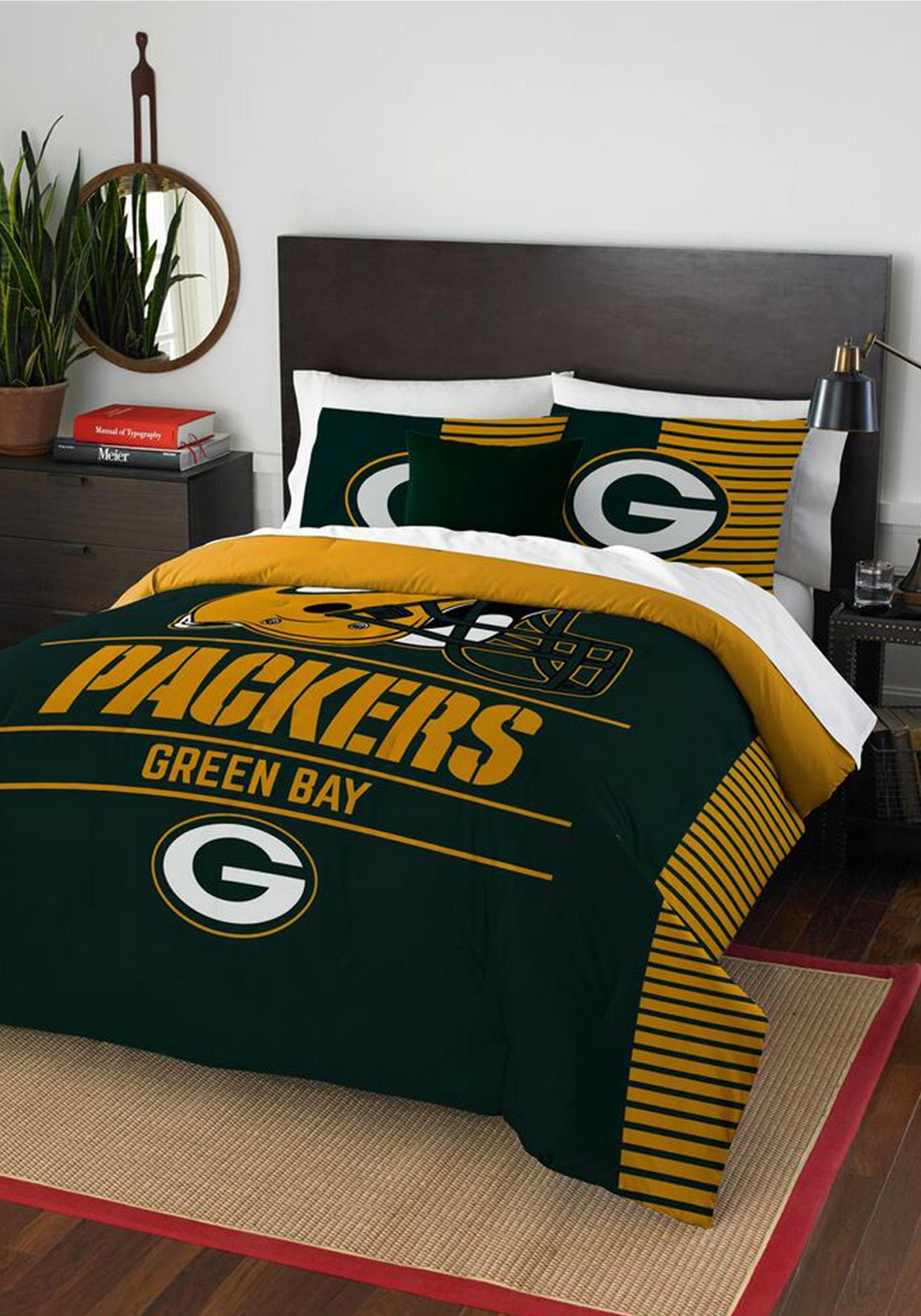 green bay packers full queen bedding