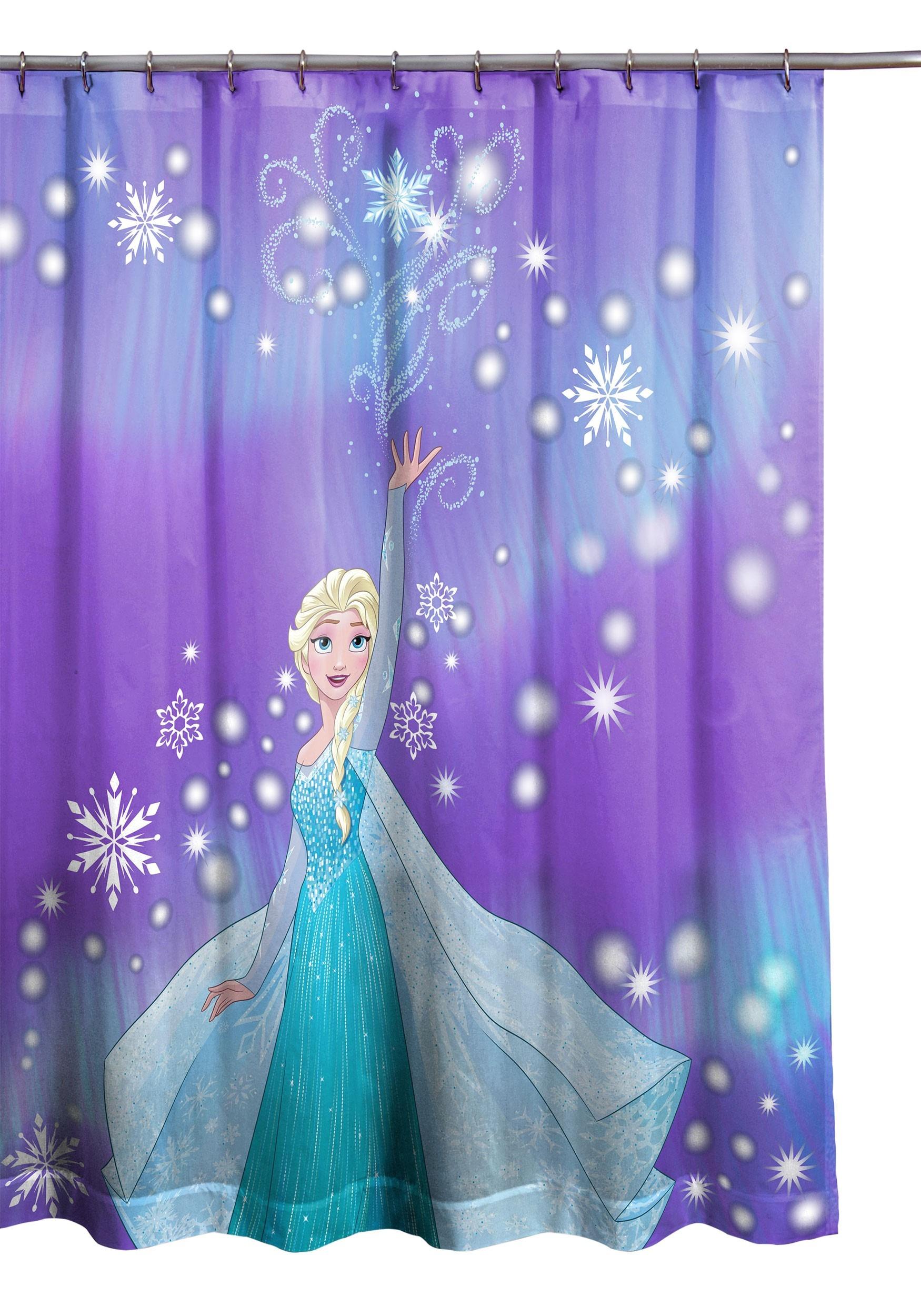 frozen snowflake shower curtain