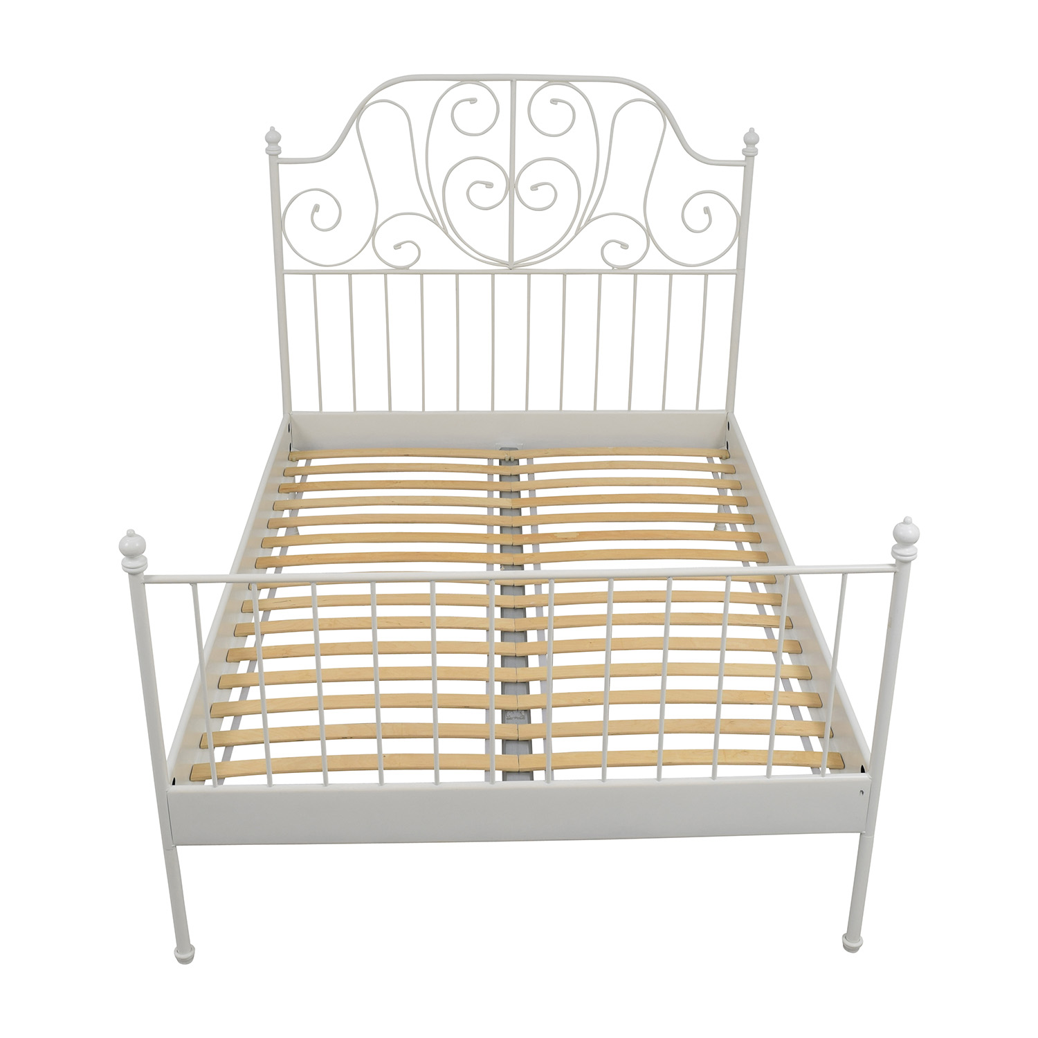 90 OFF Wood Sleigh California King Bed Frame Beds