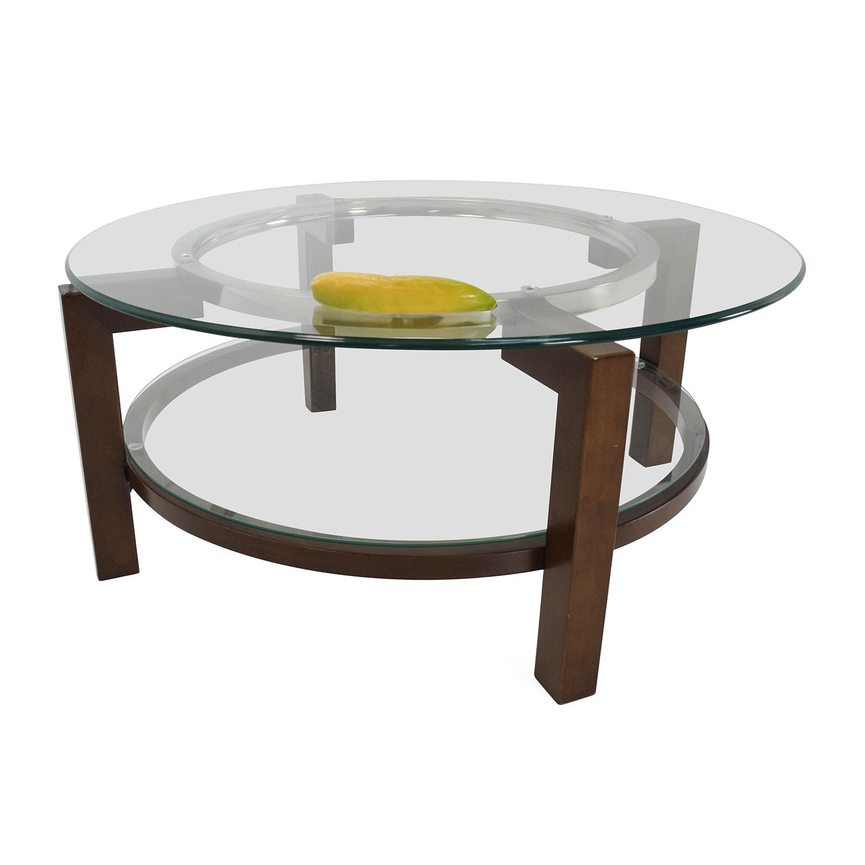 88 OFF Macys Macys Glass Top Coffee Table Tables