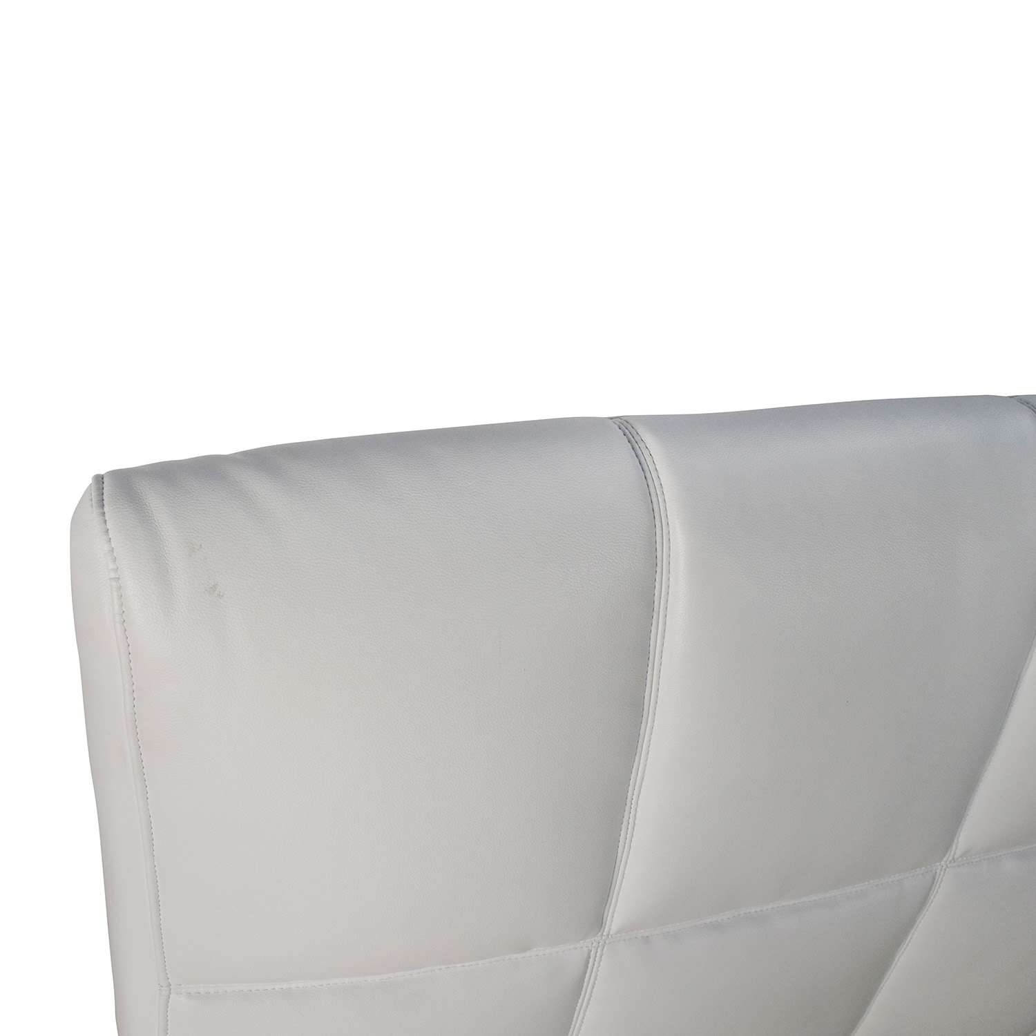 69 Off White Leather Queen Bed Frame And Headboard Beds