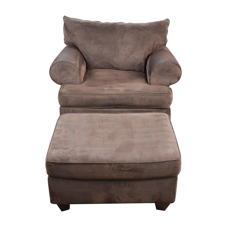 Ottoman Accent Brown Chair