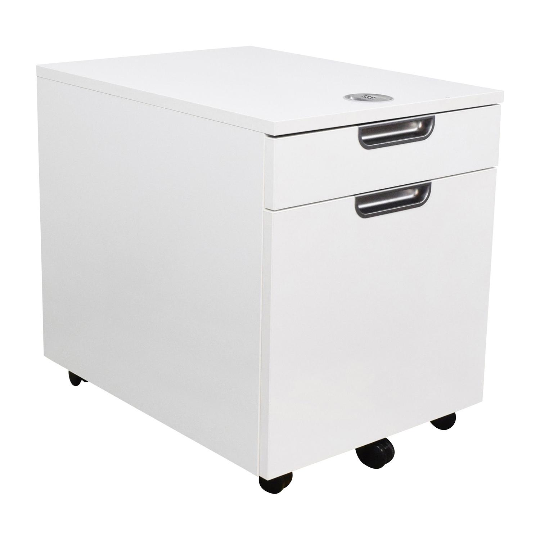 82 Off Galant White Combination Lock File Cabinet