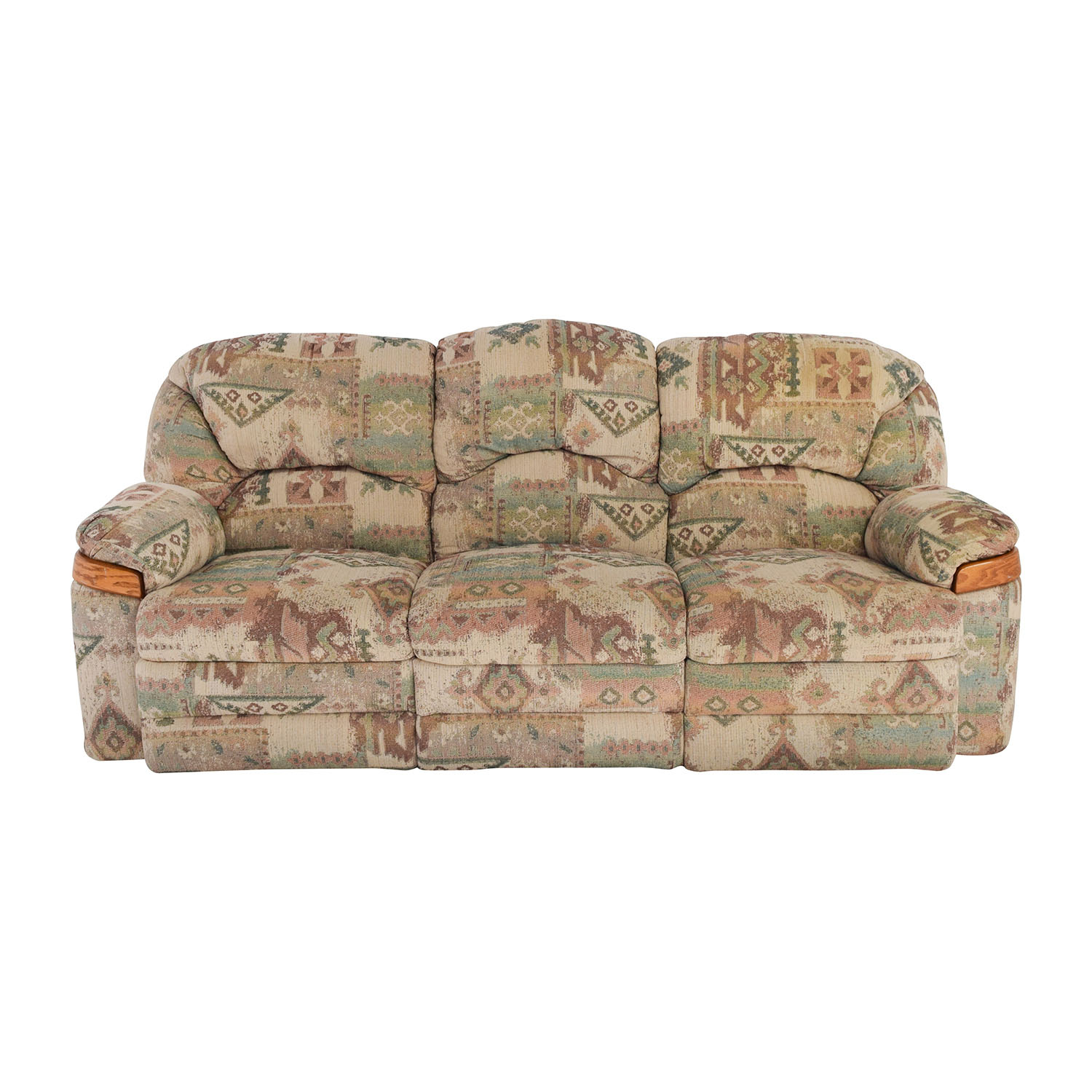 58 Off Patterned Fabric Recliner Sofa Sofas  sc 1 st  Centerfieldbar.com : patterned recliner - islam-shia.org