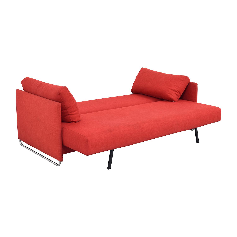 74 Off Cb2 Tandom Red Sleeper Sofa Sofas
