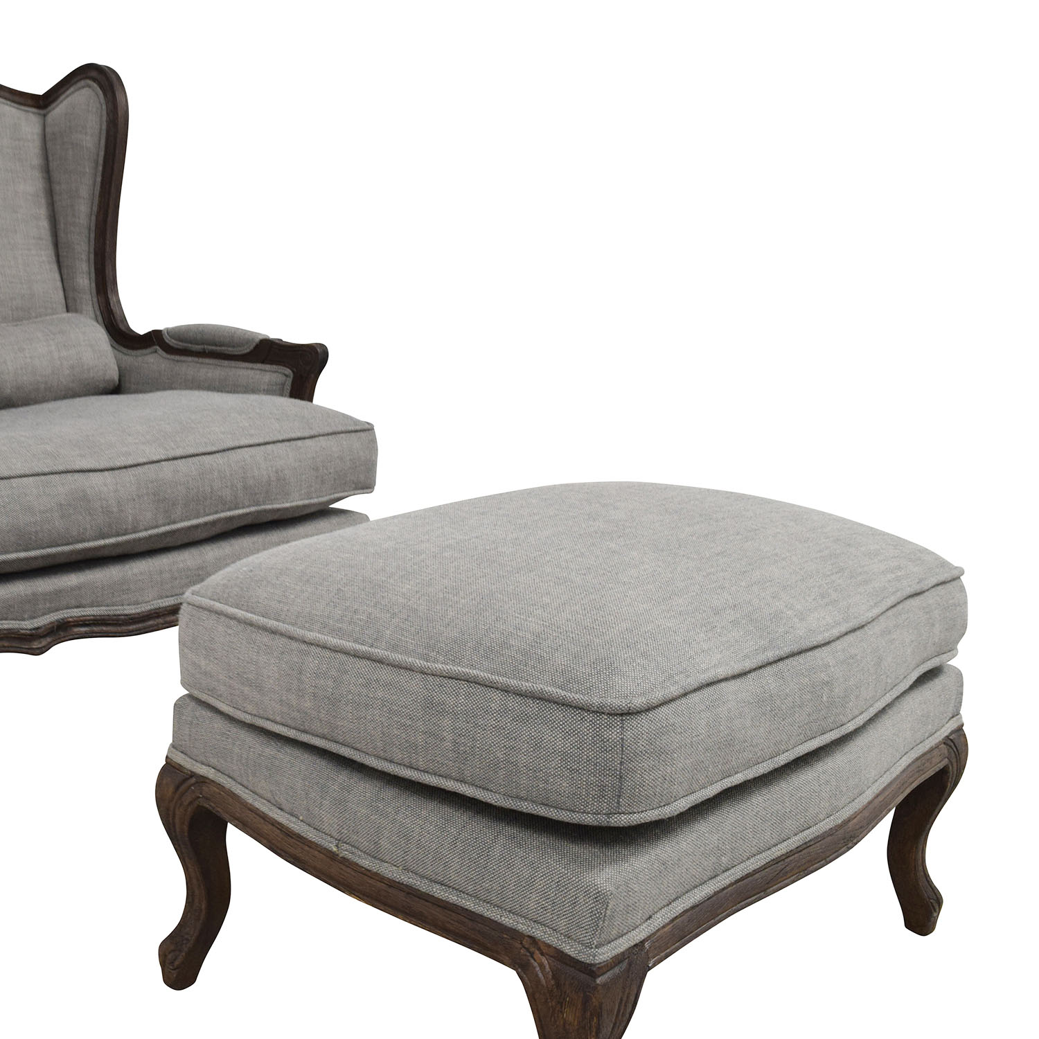 Grey Chair And Ottoman