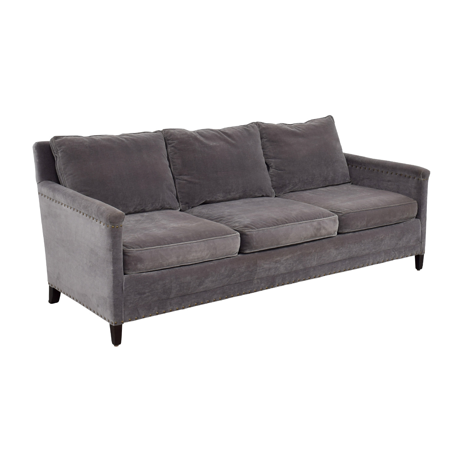 Grey Studded Sofa 64 Off Coaster Furniture Grey Microfiber
