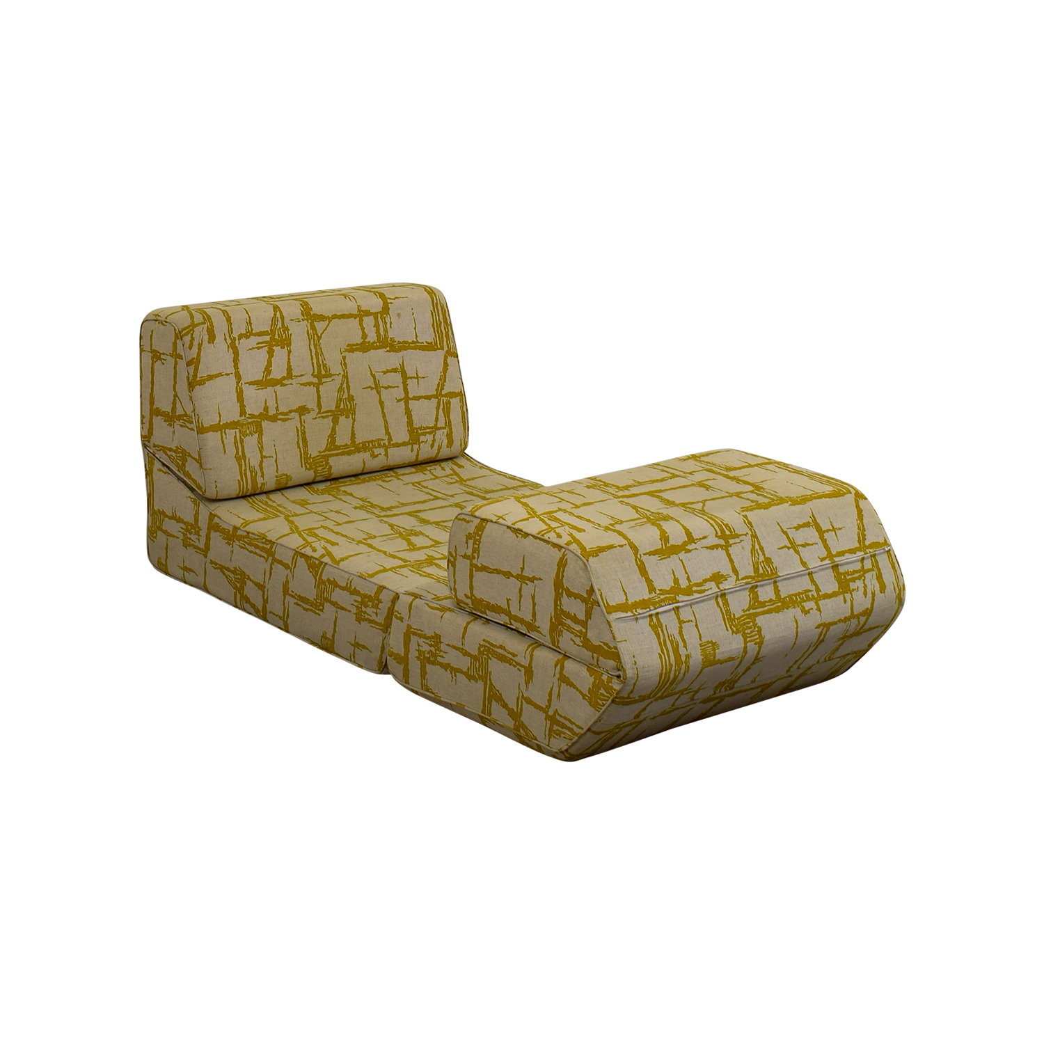 Yellow Print Accent Chair